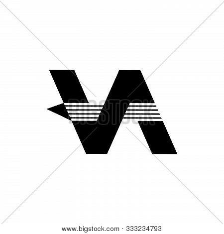 Letter Va Arrow Fast Logo Vector Unique Unusual Design