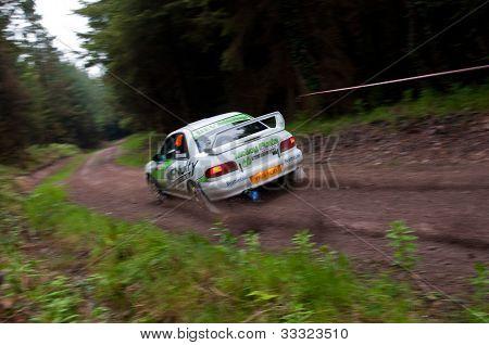 E. Mcnulty Driving Subaru Impreza