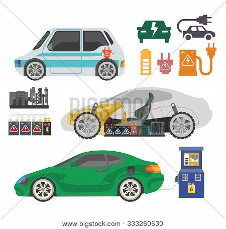 Electrocar And Charging Station, Electric Car Inner Mechanism