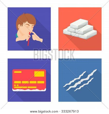 Vector Illustration Of Remedy And Medicine Sign. Collection Of Remedy And Chemistry Stock Vector Ill