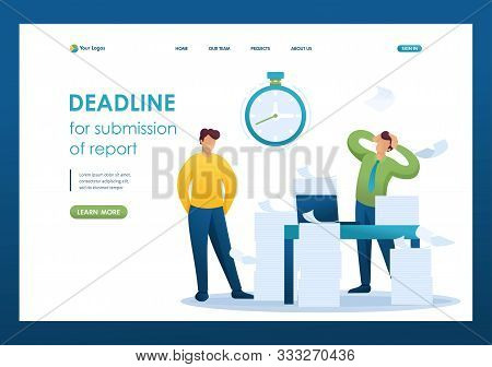 Stressful Situation Of The Office, Deadline For Submission Of Report, Company Employees In Shock. Fl