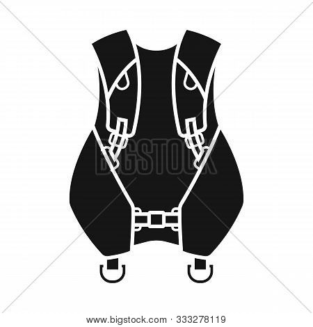 Vector Illustration Of Compensator And Dive Logo. Web Element Of Compensator And Diver Stock Symbol