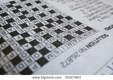 Yesterday's crossword solution