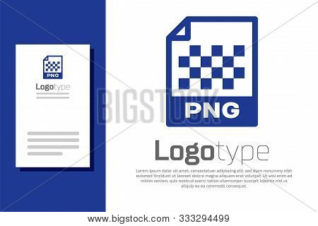 Blue Png File Document. Download Png Button Icon Isolated On White Background. Png File Symbol. Logo