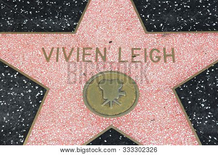 Los Angeles, Usa - April 5, 2014: Vivien Leigh Star At Famous Walk Of Fame In Hollywood. Hollywood W