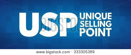 USP - Unique Selling Point acronym, business concept background poster
