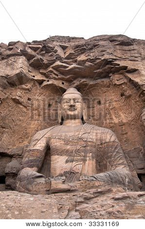 Giant Stone Buddha, Yuangang Caves, Datong