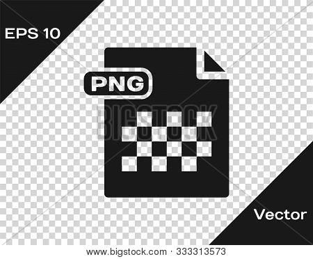 Grey Png File Document. Download Png Button Icon Isolated On Transparent Background. Png File Symbol