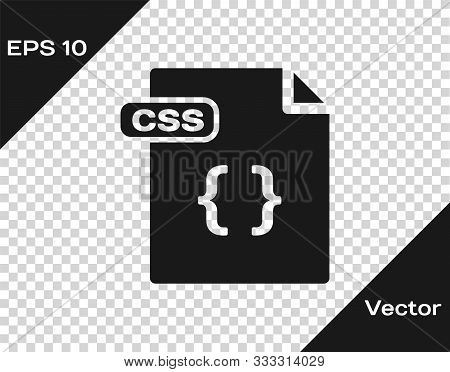 Grey Css File Document. Download Css Button Icon Isolated On Transparent Background. Css File Symbol