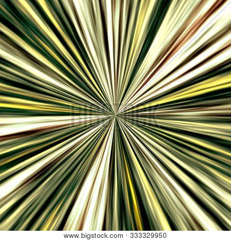 Abstract Beautiful Green Yellow Converging Lines Image