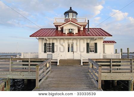 The Roanoke Marshes Lighthouse In Manteo, North Carolina