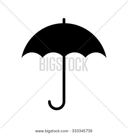 Umbrella Icon. Graphic Sign Umbrella. Black Symbol Umbrella Isolated On White Background. Umbrella S