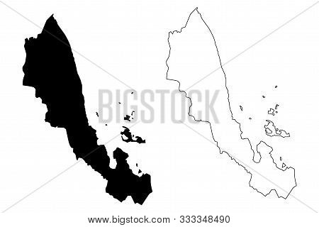 Northern Red Sea Region (horn Of Africa, State Of Eritrea, Regions Of Eritrea) Map Vector Illustrati