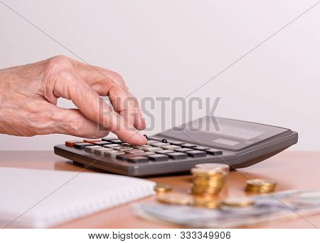 The Concept Of The Financial Life Of Senior Citizens. The Budget Of An Elderly Person. An Elderly Wo