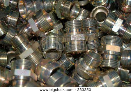 Brass Nuts Closeup