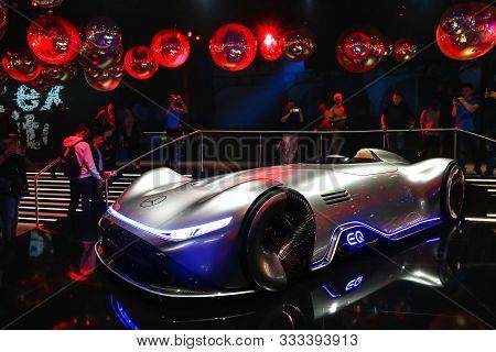 Frankfurt Am Main, Germany - September 17, 2019: World Premiere Of The Concept Sportscar Mercedes-be
