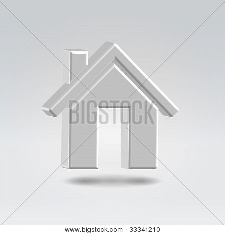 Metallic House  Icon