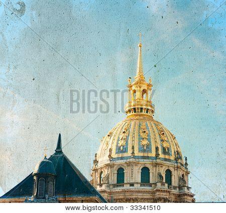 Old-fashioned Parigi Francia - con spazio per il testo o immagine