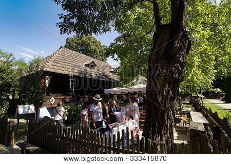 Bucharest, Romania - August 09, 2018: Household From The Village Of Sant, Bistrita-nasaud County, At