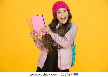 School Creating Textbooks Generation. Active Role In Curriculum. Schoolgirl With Textbooks. Textbook