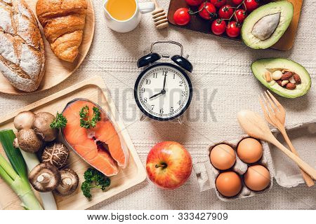 Healthy Nutrition Natural Ingredient Food Concept, Nutrient Health Balanced With Organic Vegetables