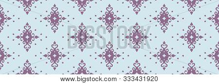 Oriental Vector Damask Pattern. Talavera Pottery. Azulejos Portugal. Turkish Ornament. Spanish Porce