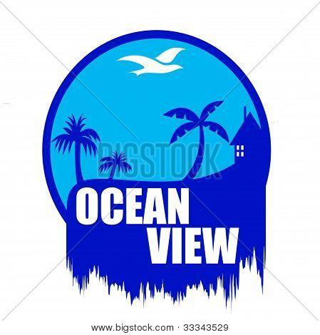 Ocean view art illustration