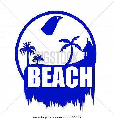 Beach art illustration