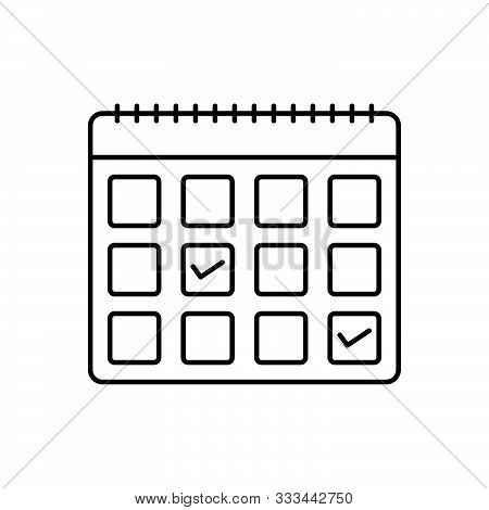 Black Line Icon For  Appointment-request Appointment Request Calendar
