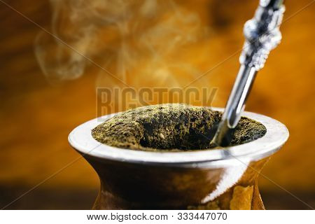 Chimarrão, Or Mate, Is A Beverage Characterized By South American Culture. Typical Brazilian Drink,