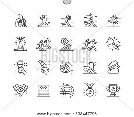 Relay Race Well-crafted Pixel Perfect Vector Thin Line Icons 30 2x Grid For Web Graphics And Apps. S