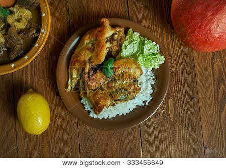 Kati Kati Chicken, Grilled Chicken Ith Moroccan Spices . Cameroonian National  Cuisine, Traditional