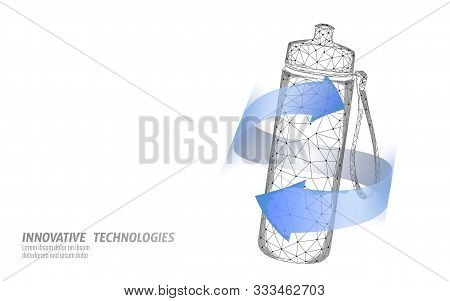 Water Aqua Bottle Sport Rehydration Concept. Health Care Against Dehydration Isotonic Electrolytes D