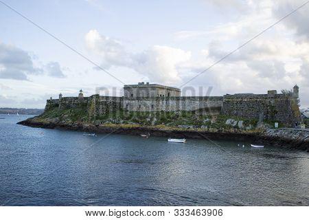 San Anton Castle In La Coruna, Spain