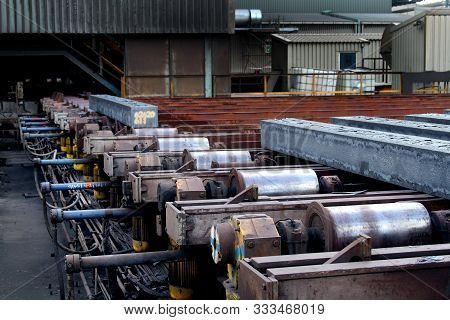 Continuos Steel Casting Plant On Large Integrated Steelworks.