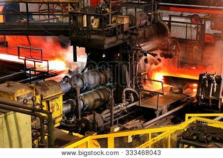 Steel Rolling Mill In Large Integrated Steelworks.