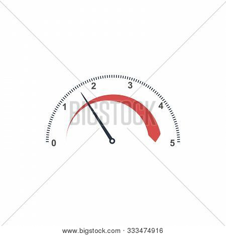 Auto Tachometer Or Speedometer Gauge With. Technology Indicator. Stock Vector Illustration Isolated