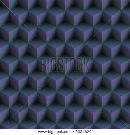 Op Art Cubes Pattern Blue Seamless
