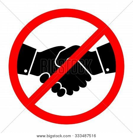 No Handshake Icon. Vector Illustration. No Dealing. No Collaboration