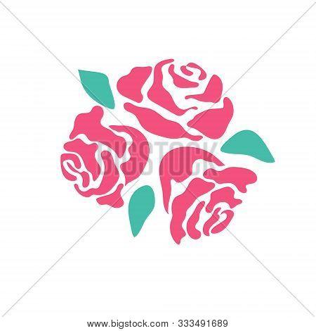 Rose Flower Vector Monochrome Pattern For Tattoo
