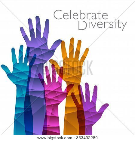 Celebrate Diversity Is The Theme Of This Graphic With Space For Text.  Great Template For Poster.