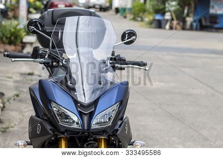 Bangkok,thailand-september 1,2019 Bigbike Yamaha Tracer 900 Gt Outdoor To Watch People Experience