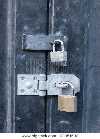 two locks on door