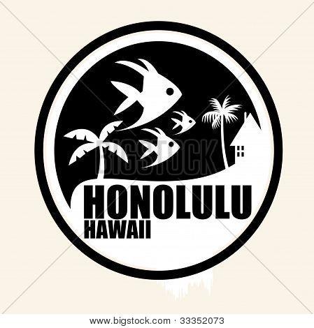 Art illustration Honolulu