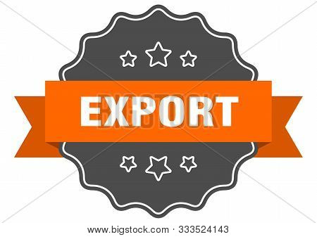 Export Isolated Seal. Export Orange Label. Export