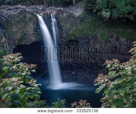 Rainbow Falls In Hilo On The Big Island In Hawaii
