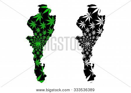Cesar Department (colombia, Republic Of Colombia, Departments Of Colombia) Map Is Designed Cannabis