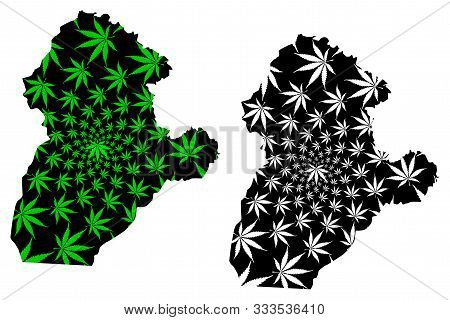 Cordoba Department (colombia, Republic Of Colombia, Departments Of Colombia) Map Is Designed Cannabi