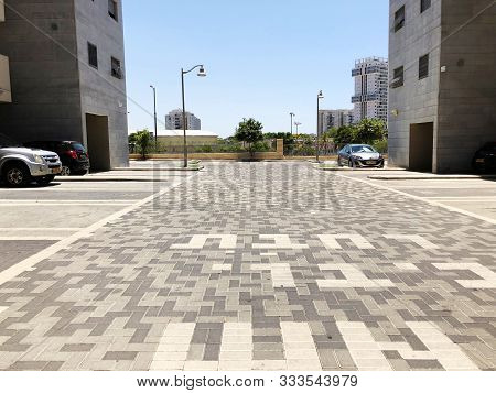 Rishon Le Zion, Israel  October 07, 2019: Residential Buildings  In Rishon Le Zion, Israel.