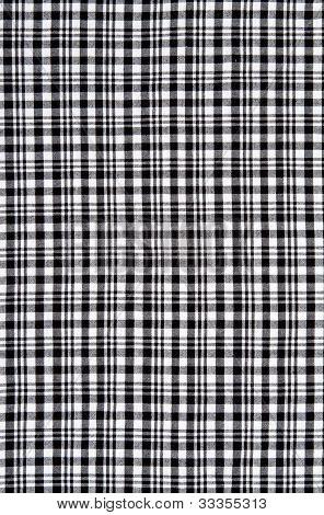Black And White Checkered Cloth